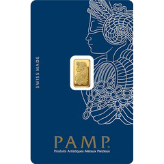 Lingote de Oro PAMP de 1 gr.