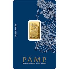 Lingote de Oro PAMP de 5 gr.