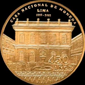 Moneda por los 450 años- 1.2oz - frente