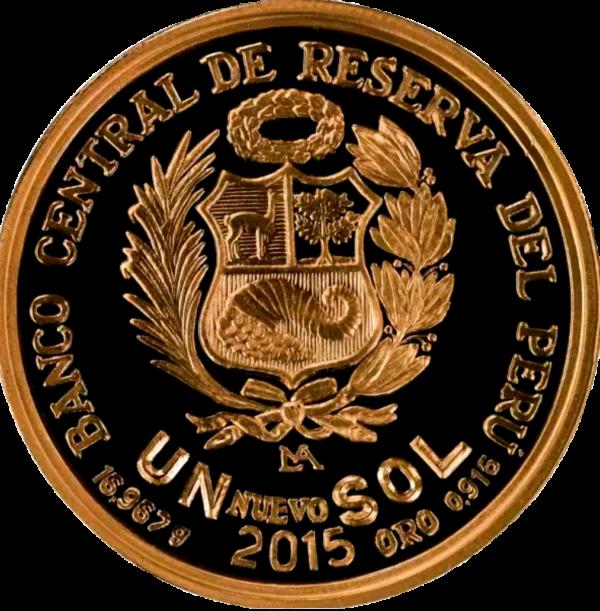 Moneda por los 450 años- 1.2oz - posterior