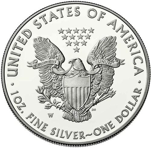 Águila Americana de Plata - Posterior