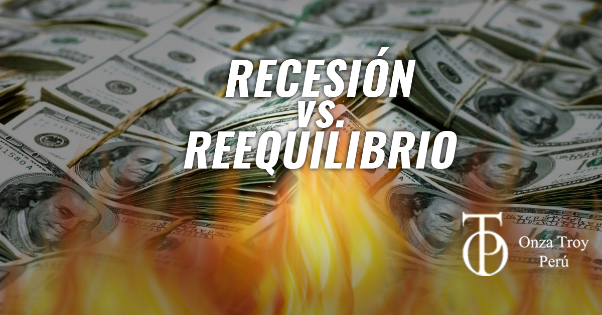 recesion vs reequilibrio