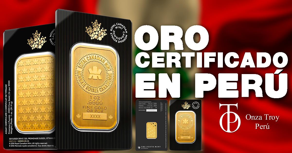 oro certificado en peru